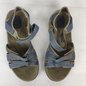 Teva blue Velcro strap waterproof hiking sandals